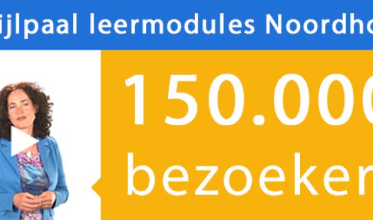 150.000ste bezoeker voor de leermodules van Noordhoff